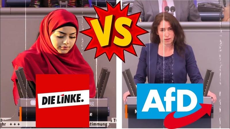 Kopftuch Partei die Linke Gökay Akbulut VS AfD pro Frauenrechte 29 05 2020