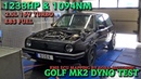 Boba Golf MK2 2.0L 16V Turbo 1233HP on Dyno Video