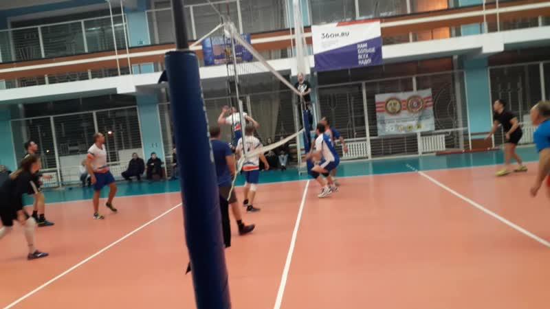 Волейбол 2019-2020 Матч ПРОКУРАТУРА - ВОДОКАНАЛ прокуроры достают после счета 7:14