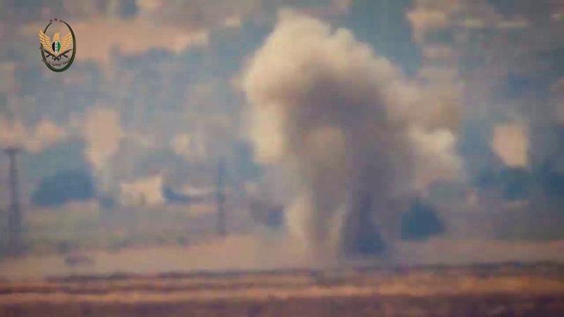 07 08 19 Боевики выпустили видео с атакой из ПТРК по танку САА где то в районе Зака