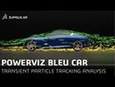 SIMULIA PowerFLOW Bleu Car Illuminated Particles