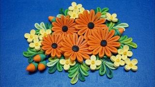 Quilling Daisy Flower V2 Tutorial | tutorial de flor de margarita de papel quilling