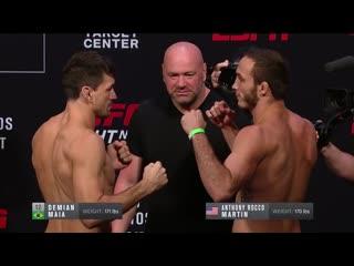 Взвешивание UFC Миннеаполис: Демиан Майя vs Тони Мартин