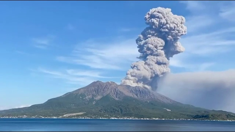 Japan's Sakurajima Volcano Erupts Sending Ash Plume Sky High