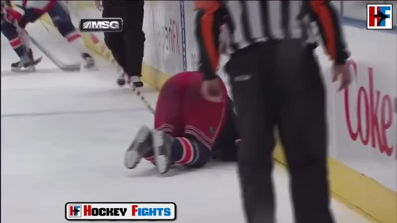 Драка в хоккее Александр Овечкин vs Брэндон Дубински (Washington Capitals vs New York Rangers)