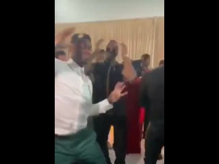 Paul Pogba at his brothers wedding this weekend