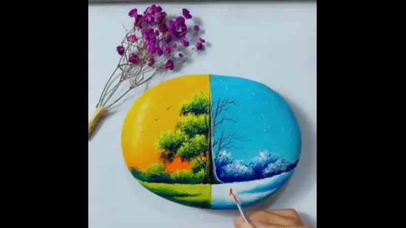 Крутая идея раскраски камня