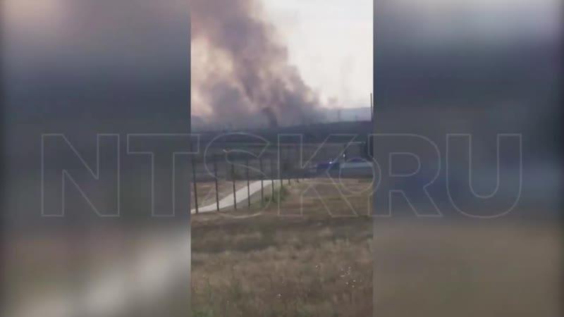 Степной пожар под Новотроицком