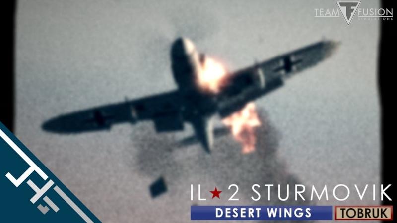 IL 2 Desert Wings Tobruk Guncam footage In color