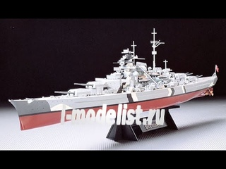 """Пятая часть сборки масштабной модели фирмы """"Tamiya"""": немецкий линкор """"Bismarck"""" в 1/350 масштабе.  Автор и ведущий: Дмитрий Гинзбург."""