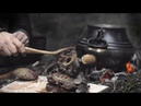 Bushcraft - carve and cook - Amazing osso buco in the forest, in less than an hour.