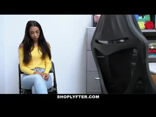 Shoplyfter - pretty girl caught shoplifting pays with her pussy