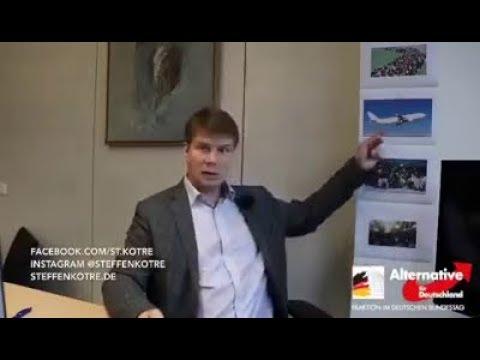 Regierung lässt Flüchtlinge einfliegen Steffen Kotré AfD 07 11 2019