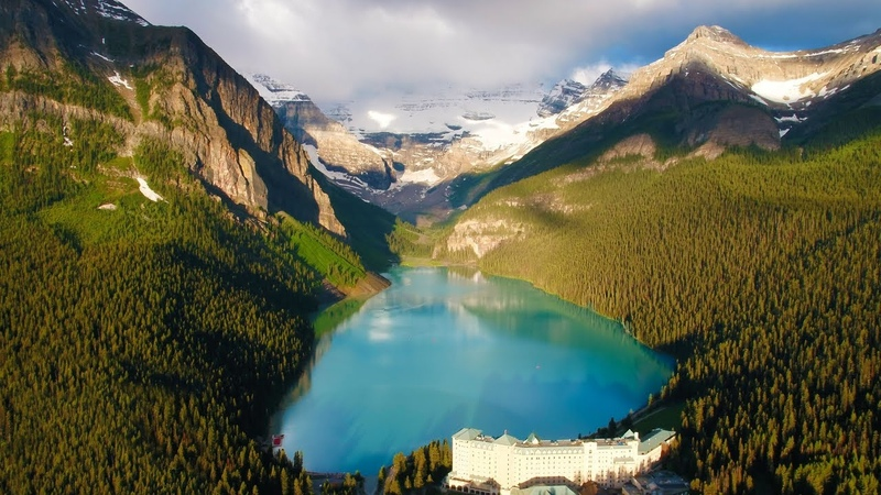 Above the Rocky Mountains Banff in 4K Nature Relaxation™ Ambient Aerial Film Music for Healing