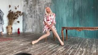 Viktoria All White Nylon Legs Pantyhose - LIVE Session 09/2019