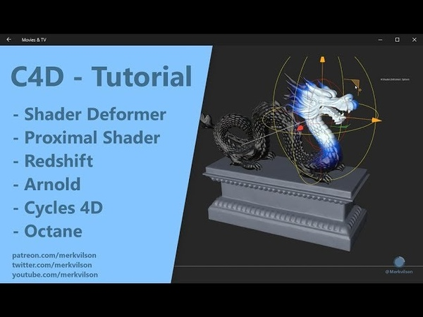 Shader Deformer - Redshift, Cycles 4D, Arnold, Octane