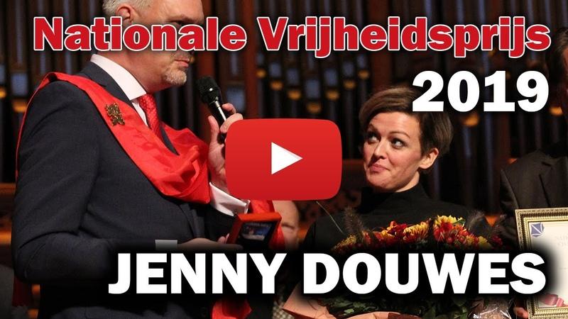 (8356) Jenny Douwes ontvangt Nationale Vrijheidsprijs 2019 op Cultuur onder Vuur Congres 2019 - YouTube