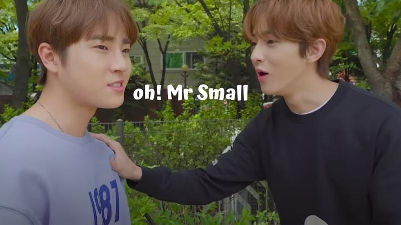 Golden Child making fun of Bae Seungmin's height
