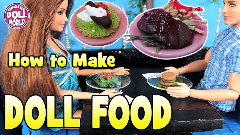 How to Make Easy Doll Food with Clay
