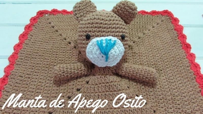 Manta de Apego Osito a Crochet - Paso a Paso