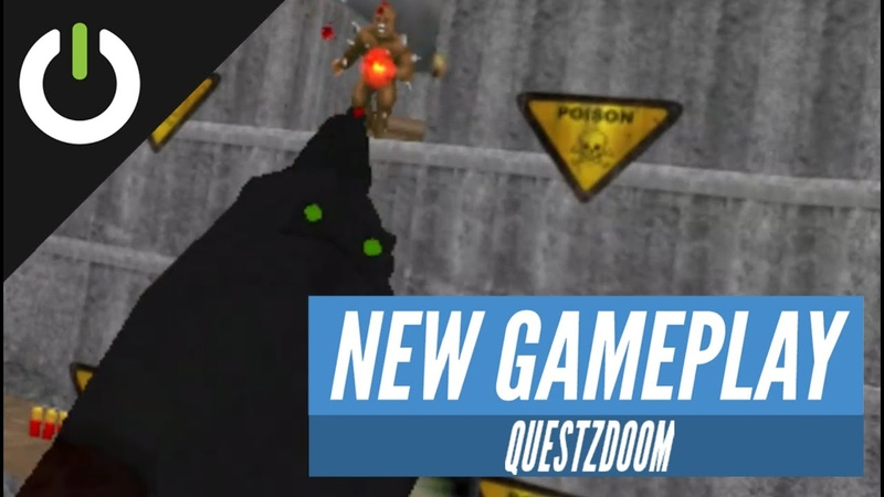Doom (1993) First Levels On Oculus Quest (QuestZDOOM from DrBeef Baggyg)