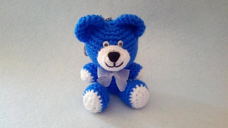 Orsetto Portachiavi Amigurumi Tutorial 🧸 Bear Crochet - Osito Llavero Crochet - Keychain Crochet