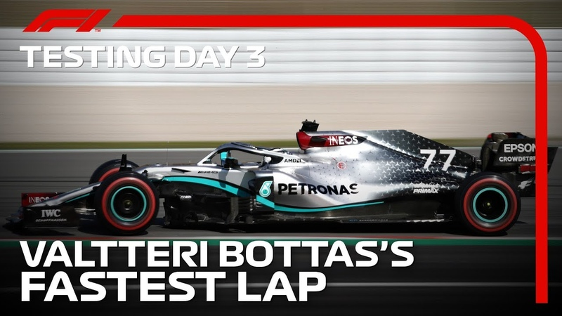 Формула-1 * Тесты в Барселоне * Лучший круг первого блока тестов от Боттаса