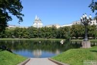 Сквер Патриаршие пруды и Сад Аквариум в Москве