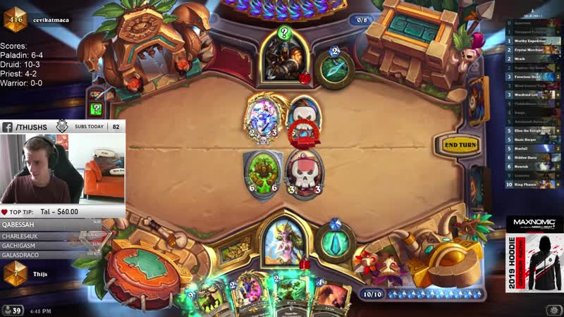Thijs Hearthstone I Just Can't Stop Winning In High Legend TRYHARD Thijs ACTIVATED