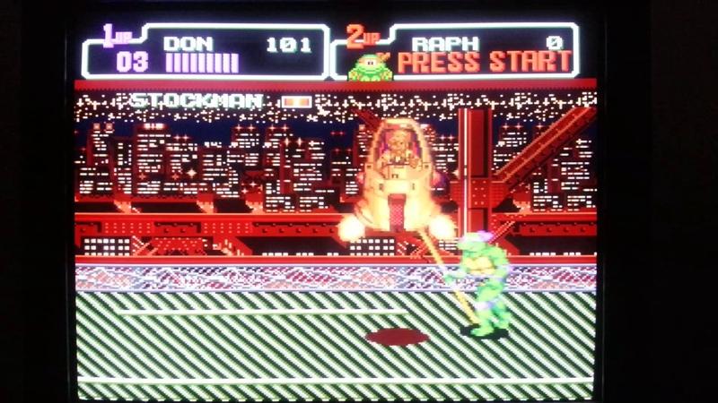 Teenage Mutant Ninja Turtles Hyperstone Heist Sega Genesis Big Apple 3AM Stage ROM Hack