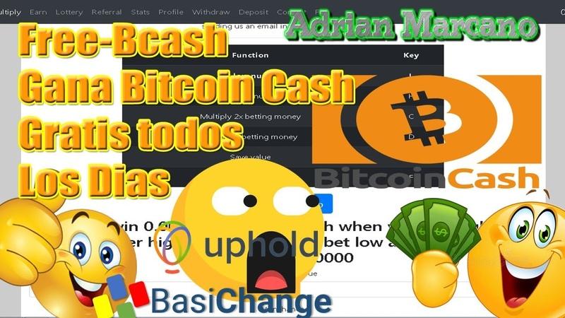 Gana Bitcoin Cash Gratis Cada 60 Minutos Free Bcash