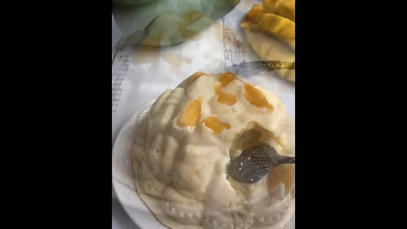 Творожно манговый десерт