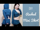 DIY Ruched Mini Skirt for belly dance yoga!