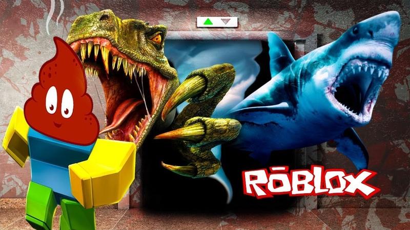 СУМАСШЕДШИЙ ЛИФТ в ROBLOX мы стали КАКАШКОЙ = приключения мультяшного героя роблокс детское видео