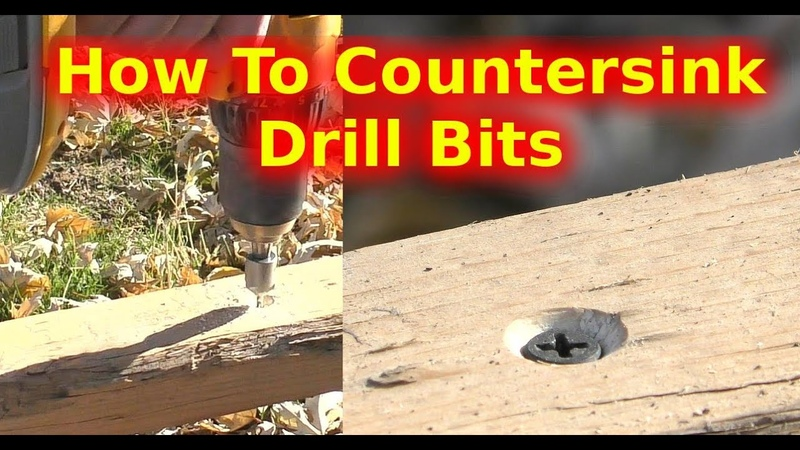 How To Use Countersink Drill Bits To Keep Screw Heads From Sticking Out Tutorial DIY Carpentry Wood