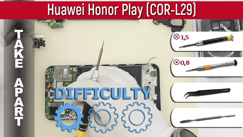 How to disassemble 📱 Huawei Honor Play COR L29 Take apart Tutorial