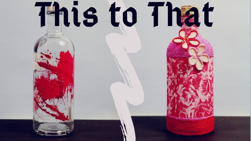 DIY bottle decor by Asha Neog Jute Yarn bottle art ANG Creations
