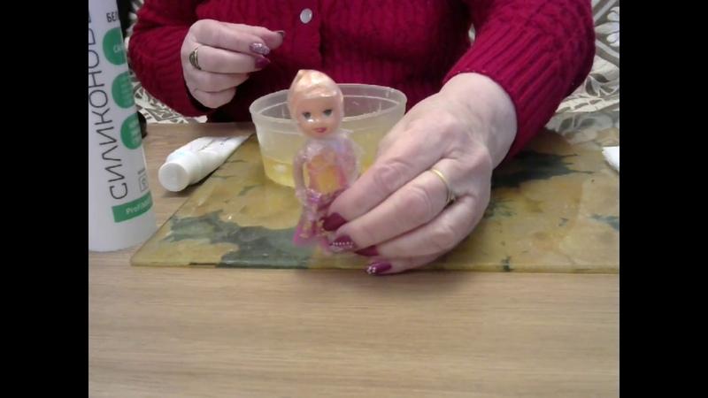 Молд личика куклы