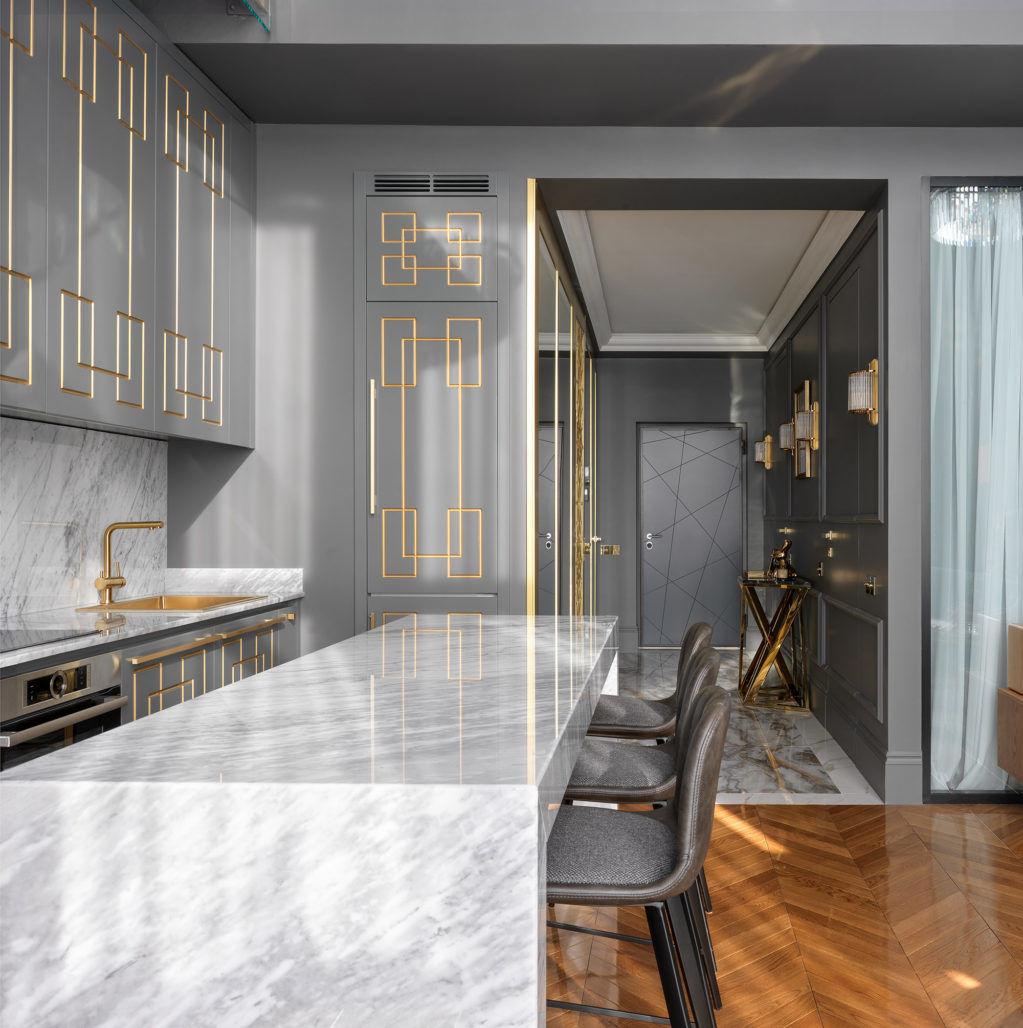 """Квартира в стиле """"Великого Гэтсби"""", 80 м² от Александра Якимова и Александра Потемкина"""