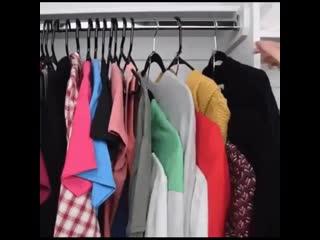 Как экономить пространство в шкафу