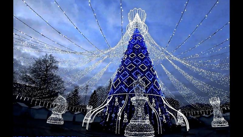 Новогодняя Королевская Ёлка Литвы, Вильнюс Christmas Chess Queen tree Nauji metai Vilniuje