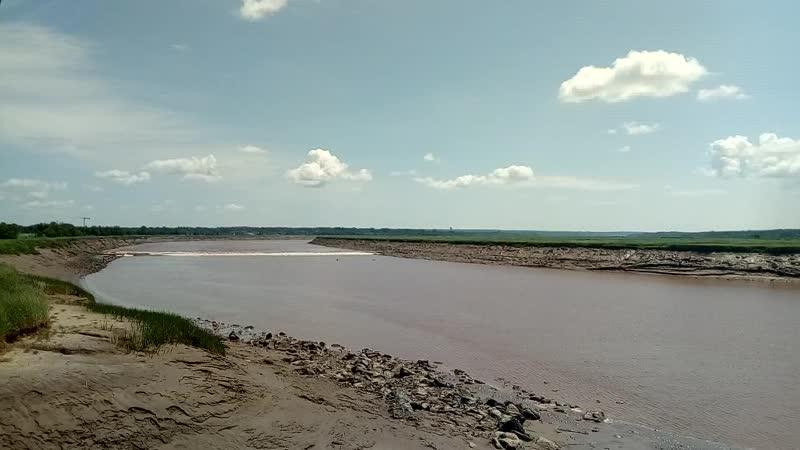 1. Приливная волна против течения реки. Монктон, Канада.
