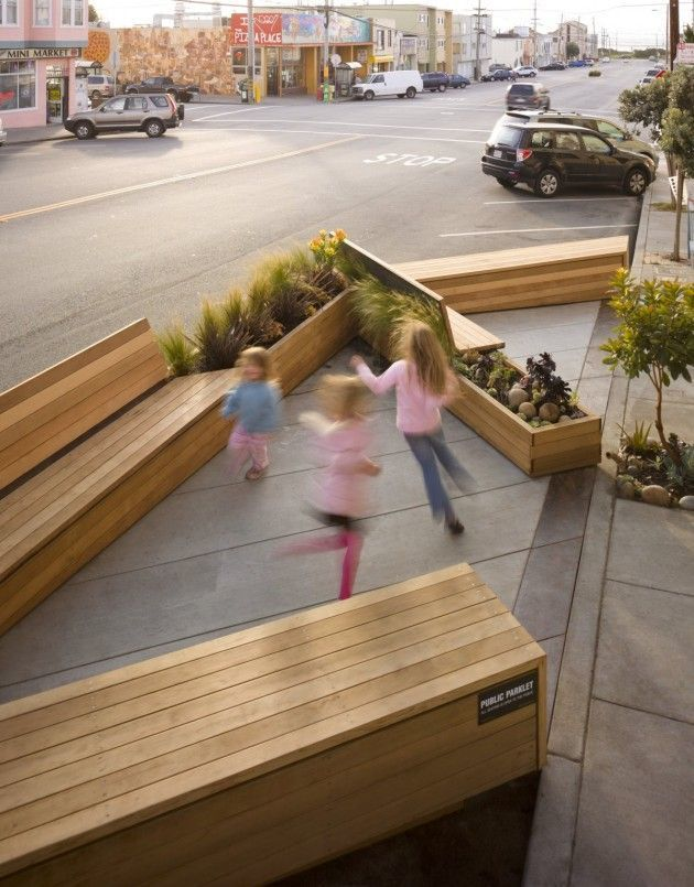 External — Noriega Street Parklet by Matarozzi Pelsinger Design   Build by PortlandDevelopments