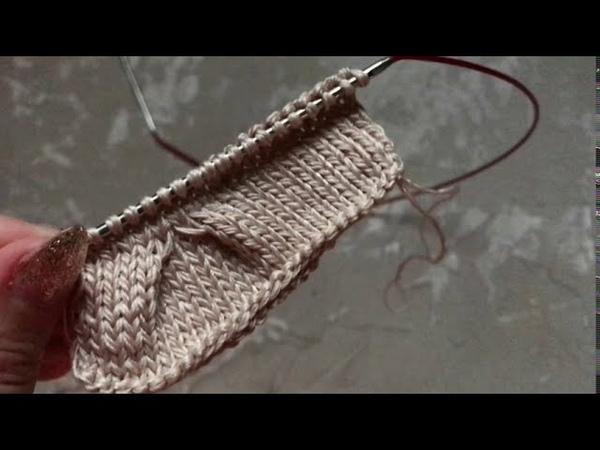 Уроки вязания Вязание складок вязаные оборки Вязаные детали