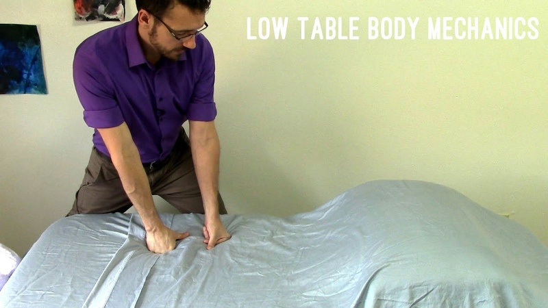 Massage Tutorial: Body mechanics for low tables