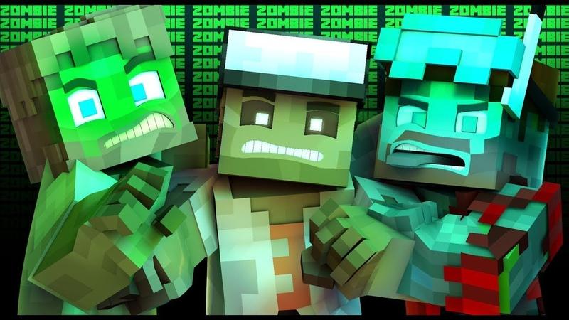 Скрынник смотрит НЕЖИТЬ l Майнкрафт Зомби Рэп Minecraft Animated Music Video