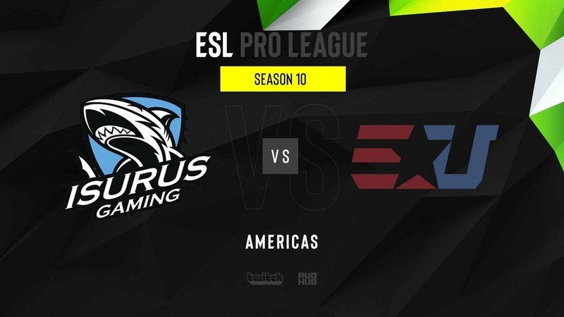 Isurus vs eUnited ESL Pro League S10 NA map1 de overpass MintGod