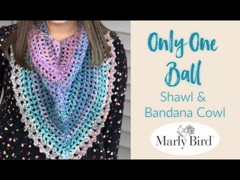 One Ball Shawl or Bandana Cowl || Quick Crochet Project