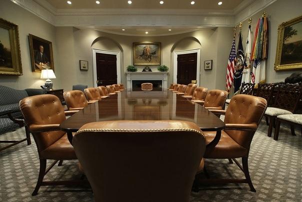 Одна из комнат для встреч в западном крыле Белого дома называется комнатой Рузвельта