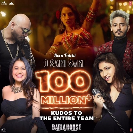 Nora Fatehi on Instagram 100 MILLION YASS we slaying out here 🔥🔥💥💥❤️❤️ Congratulations to the entire team OSakiSaki @
